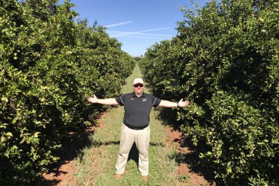 Andy in the orange grove