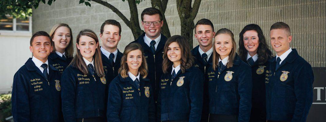 2018-2019 Ohio FFA Association State Officer Team