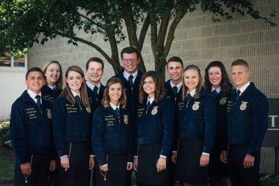 2018-2019 Ohio FFA Association State Officer Team